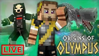 Origins of Olympus LIVE: THE BEST WEAPON! (Percy Jackson Minecraft Roleplay SMP)