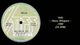 Yello - Heavy Whispers - 1982 (33 RPM)