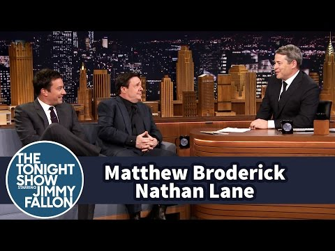 Matthew Broderick,Nathan Laneand Jimmy  Each Other