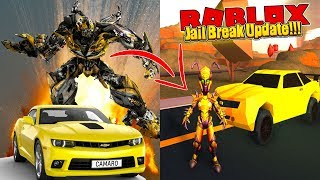 ROBLOX - BUMBLE BEE FROM TRAMSFORMERS IS IN JAIL BREAK!