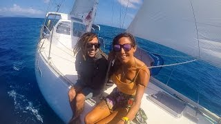 Sailing Nandji - Ep 21, Crossing the Notorious Wide Bay Bar and the Sandy Straits!