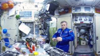 New Year holidays at Intl Space Station in 360 video