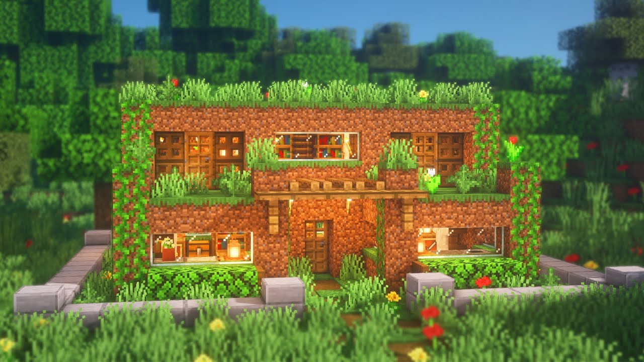 Minecraft: How to Build a Dirt House  Simple Dirt House Build Tutorial