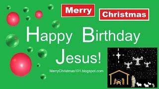 HAPPY BIRTHDAY JESUS - Christmas Card Comedy - Kids, Dogs, Sled, Sledding, Snow Play, Ice Skating