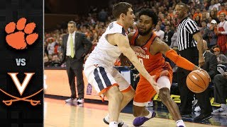Clemson vs. Virginia Basketball Highlights (2017-18)