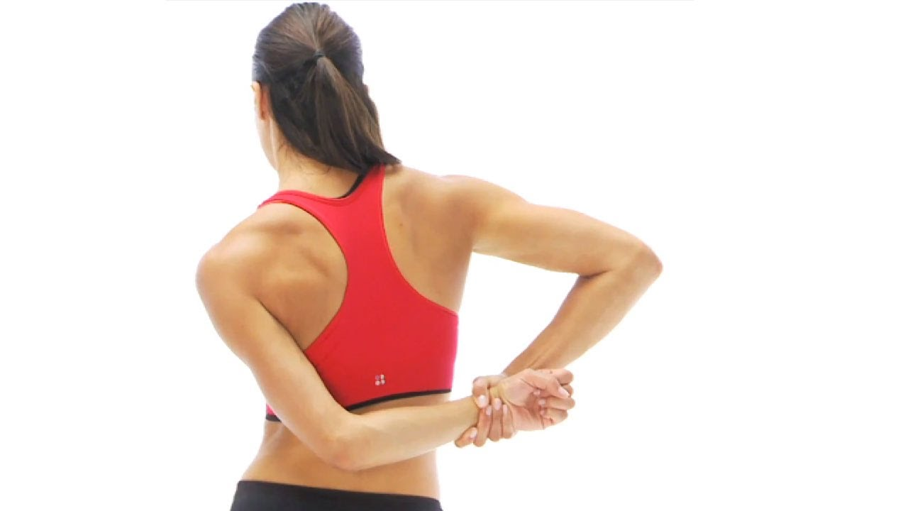Supraspinatus stretch behind the back - YouTube