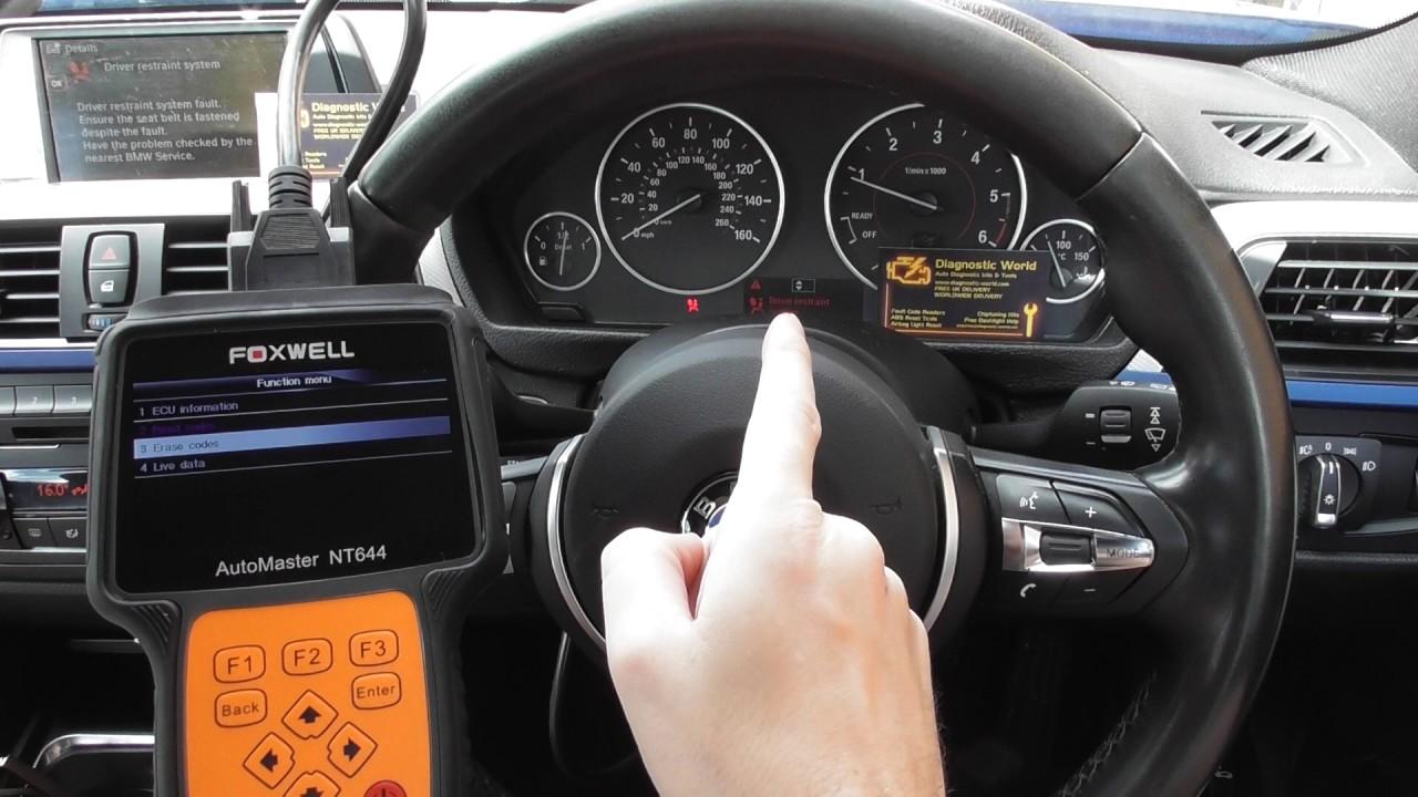 BMW F30 F31 F32 Airbag Light Foxwell NT644 Reset 930928 93097C 9309C4 by  Diagnostic World