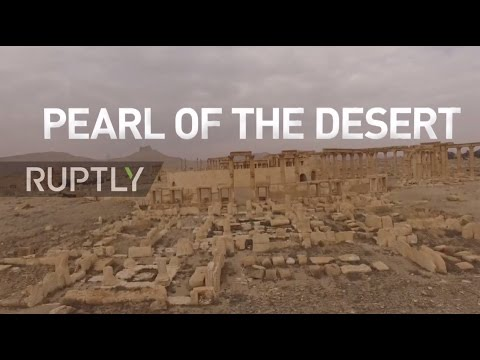 Syria: Drone captures 'Pearl of the desert' in Palmyra following recapture from IS