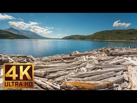 4 HRS Relaxing Nature Scenery of Spirit Lake at Mt. St. Helens  in 4K + Nature Sounds