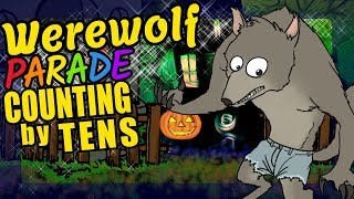 Halloween Werewolf Teaching Counting by Tens Educational Math Video for Kids