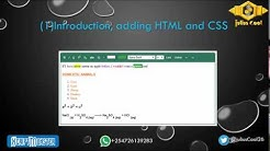 1. Creating a Rich Text Editor WYSIWYG Using HTML and JavaScript  -  Introduction, adding HTML