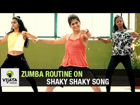 Zumba Routine On Shaky Shaky Song | Zumba Dance Fitness | Choreographed By Vijaya Tupurani