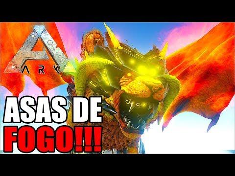 TAMEI O DINO COM ASAS DE FOGO E CORRENTE NA BOCA!!! UM NOVO MINI PET!!! - ARK FOREWORLD MYTH #13