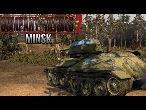 Company of Heroes 2 - Minsk AI Battle on General - Theater of War Gameplay 2/3