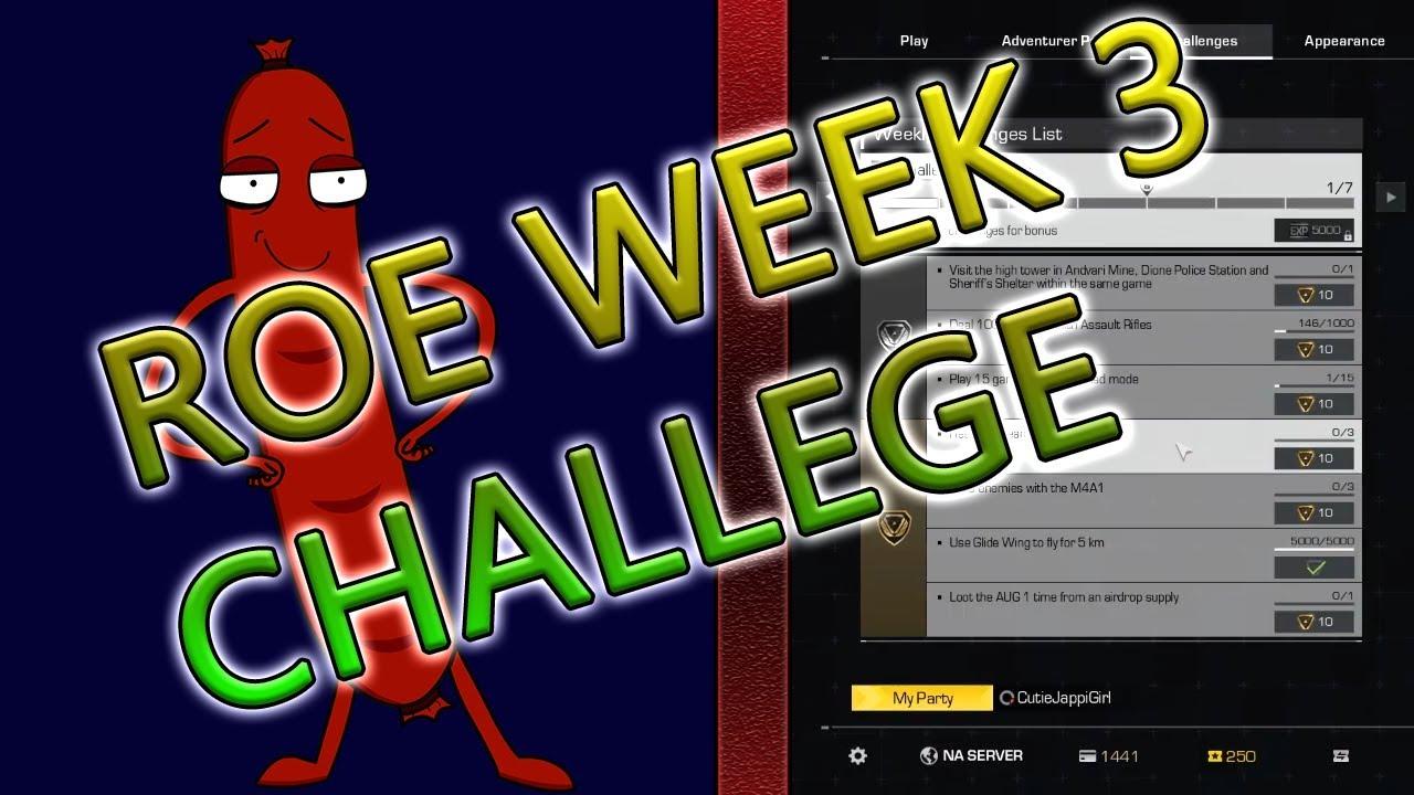 WEEK 3 RING OF ELYSIUM CHALLENGE