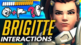 Overwatch | BRIGITTE  - ALL ABILITY INTERACTIONS MYTHBUSTED vs OTHER HEROES