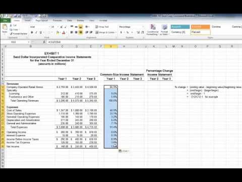 Common Size Balance Sheet - YouTube - common size income statement template excel