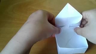 Как сделать коробку из бумаги без клея? Новый супер способ