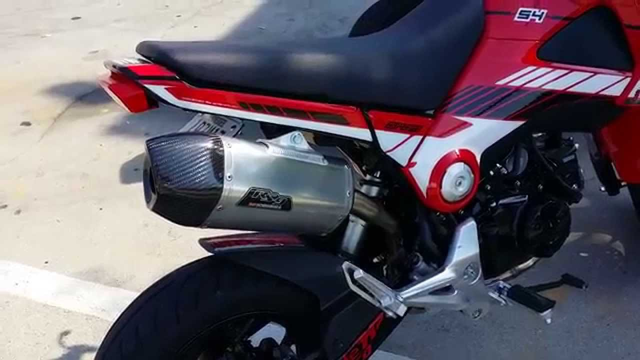 Honda Grom / MSX 125 Yoshimura RS-9 Exhaust Video - Soundclip ...