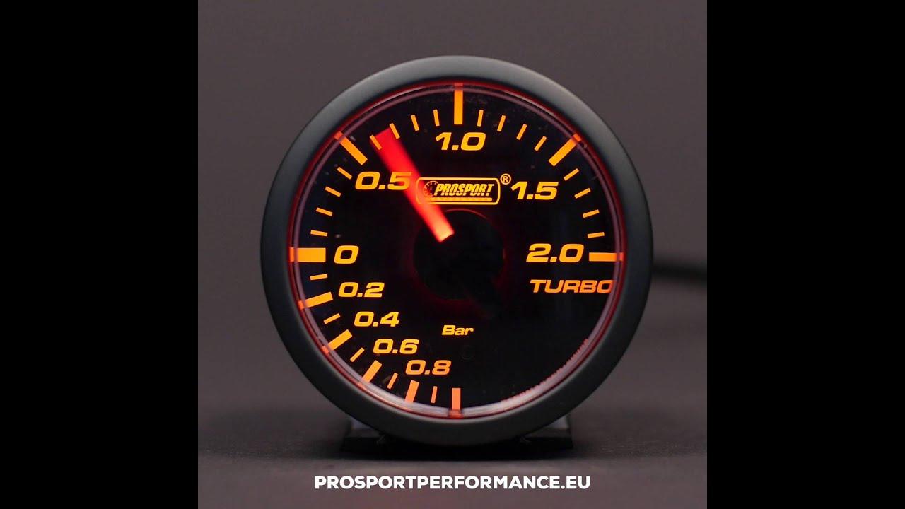 Prosport Boost Gauge 45mm Clear Lens Series Bar Youtube Defi Wiring Wrx