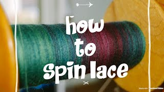 Spinning lace yarn