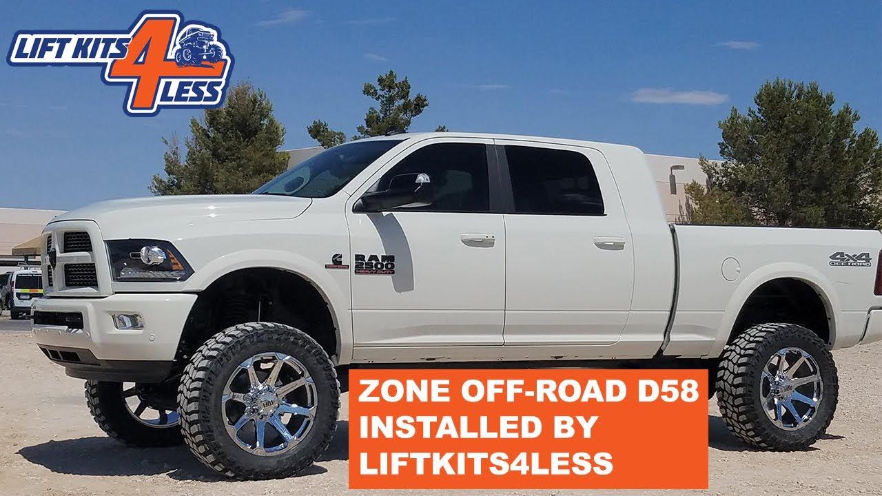 Ram 2500 Lift Kit >> Zone Offroad D58n D60n 6 5 Radius Arm Suspension Lift Kit 2014 Current Ram 2500 4wd Diesel