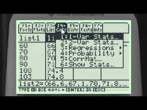 Regression On TI-89