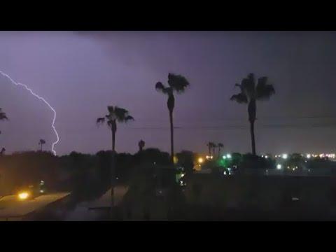 Surprise Lightning storm Over McAllen (August 20th 2015)