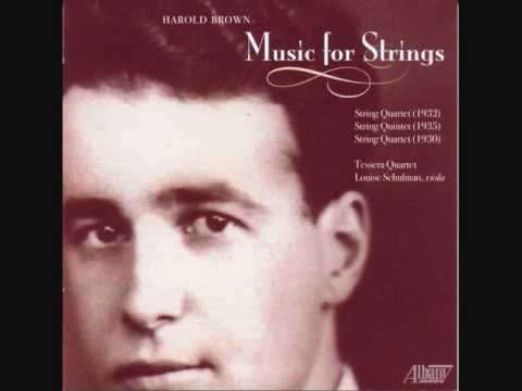 HAROLD BROWN (1909-1979): String Quartet No. 1 - Movement 1 (1932)
