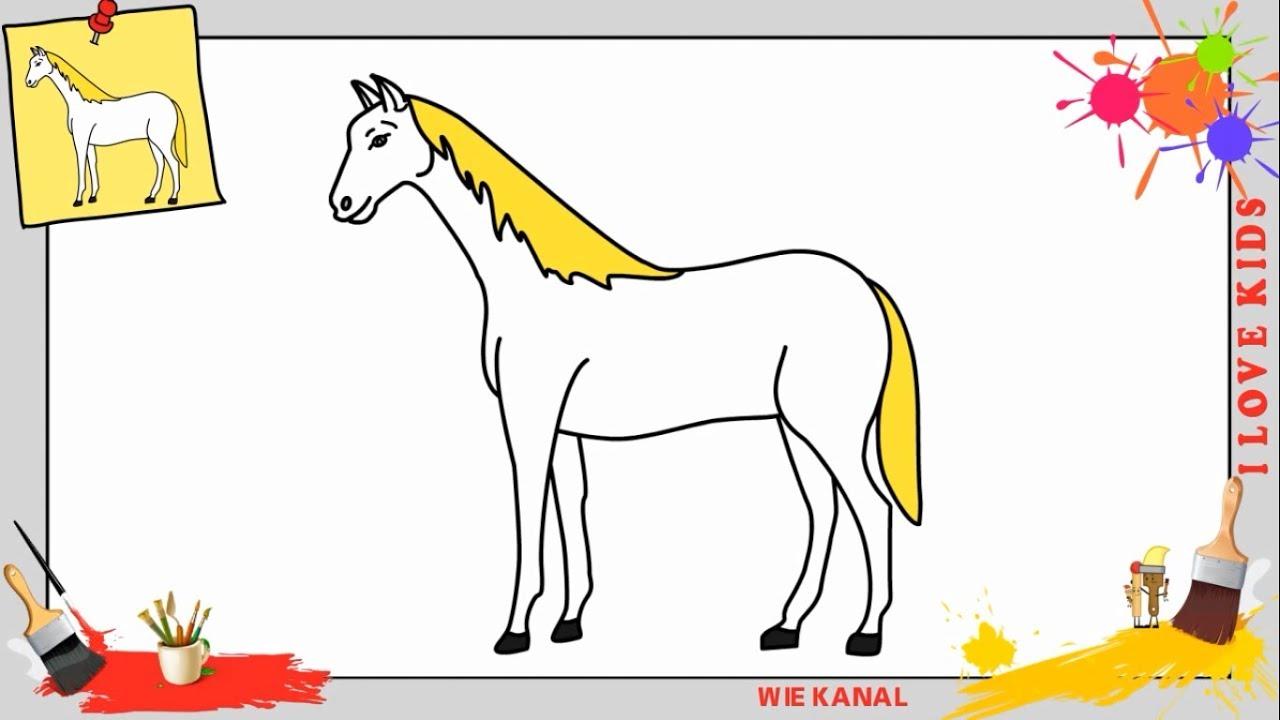 wie zeichnet man ein pferd schritt f r schritt f r. Black Bedroom Furniture Sets. Home Design Ideas