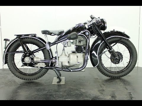 bmw r35 1945 350cc 1 cyl ohv vintage motorcycle - start up - youtube