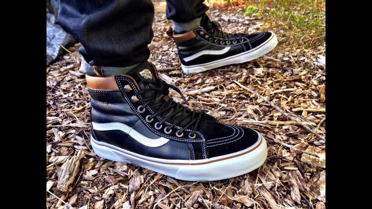 17bc074b64d7 Vans Sk8-Hi MTE Black True White •ON FEET• - YouTube