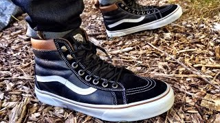 Vans Sk8-Hi MTE Black/True White •ON FEET•
