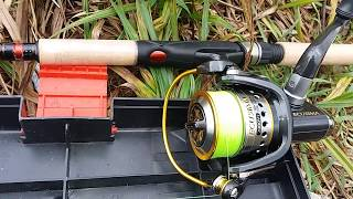 Test ryobi ecusima 2000vi and shimano catana 210 на озері