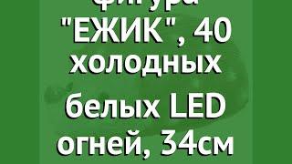 Светящаяся фигура ЕЖИК, 40 холодных белых LED огней, 34см (KAEMINGK) обзор 492176