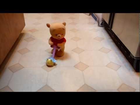 POP ALONG BABY POOH WALKING DISNEY WINNIE THE POOH BEAR