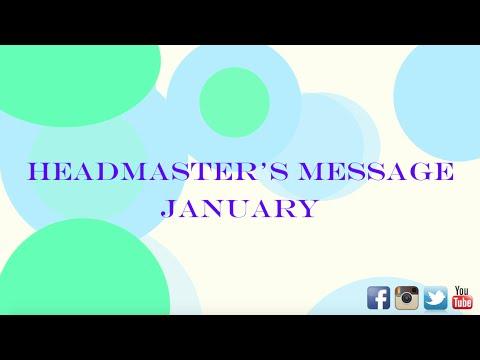 The Kinkaid School - Headmaster's Message January 2016