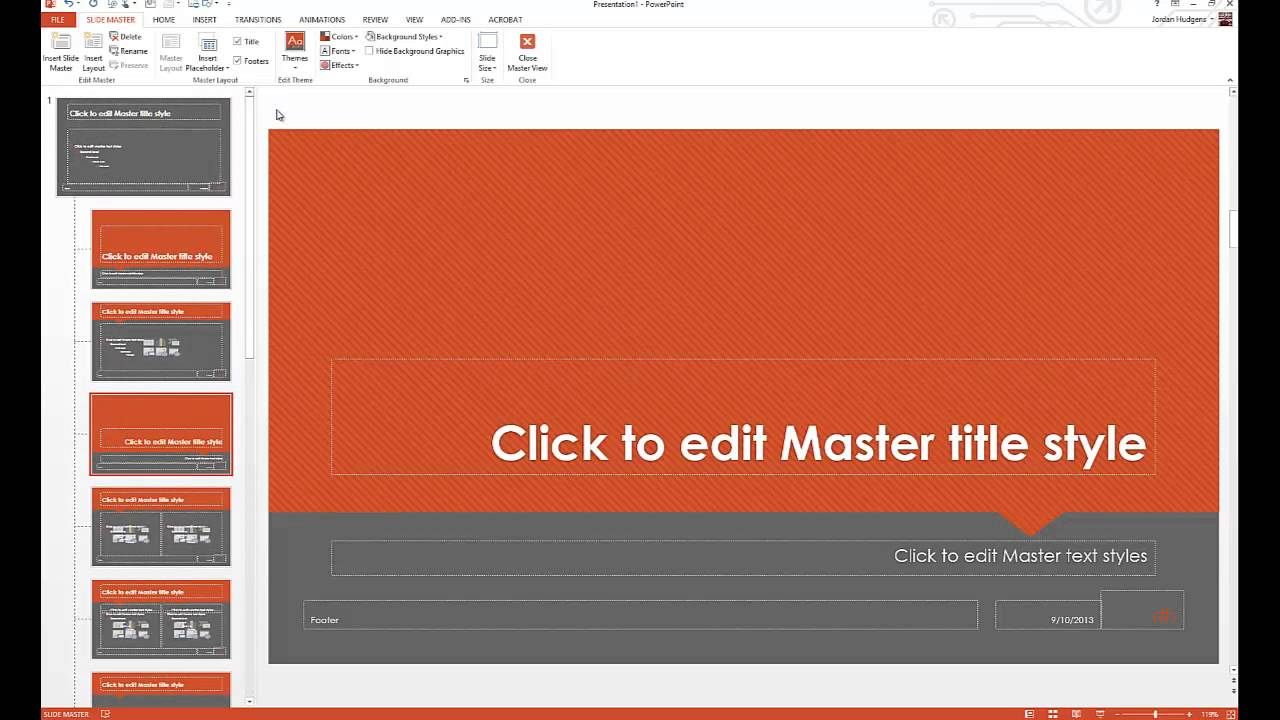 how to customize powerpoint background