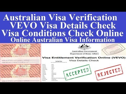 Australian Visa Verification Used Passport Number L  Australian Visa Conditions Check Online
