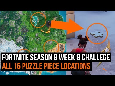 All 16 Puzzle Piece Locations - Fortnite Week 8 Challenge