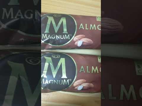 Magnum ice cream almond flavor, #shorts