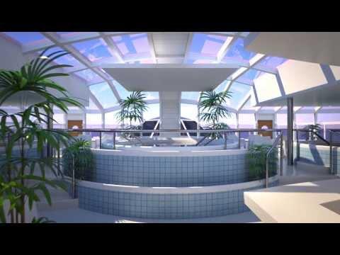 Silja Line - Silja Serenade - Animation of Sunflower Oasis Spa