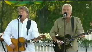 Olsen Brothers - Fly On The Wings Of Love, live Allsang on Grensen