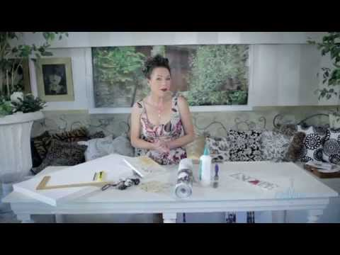 Arts & Crafts Tutorial: Wallpaper Art