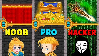 NOOB vs PRO vs HACKER - How to Loot Pin Pull & Hero Rescue screenshot 2