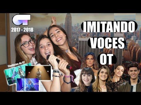 IMITANDO VOCES DE CANTANTES OT  Marru