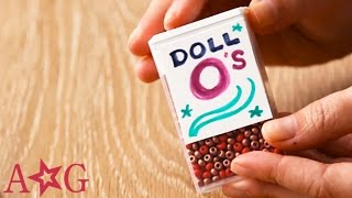 How to Make Fake Cereal for Dolls | OMaG | American Girl