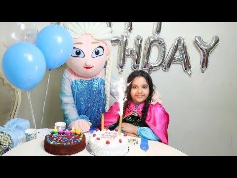 حفلة عيد ميلاد السا !! !Frozen Elsa Happy Birthday
