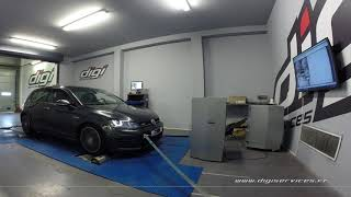VW Golf 7 2.0 TDI 184cv DSG Reprogrammation Moteur @ 229cv Digiservices Paris 77 Dyno