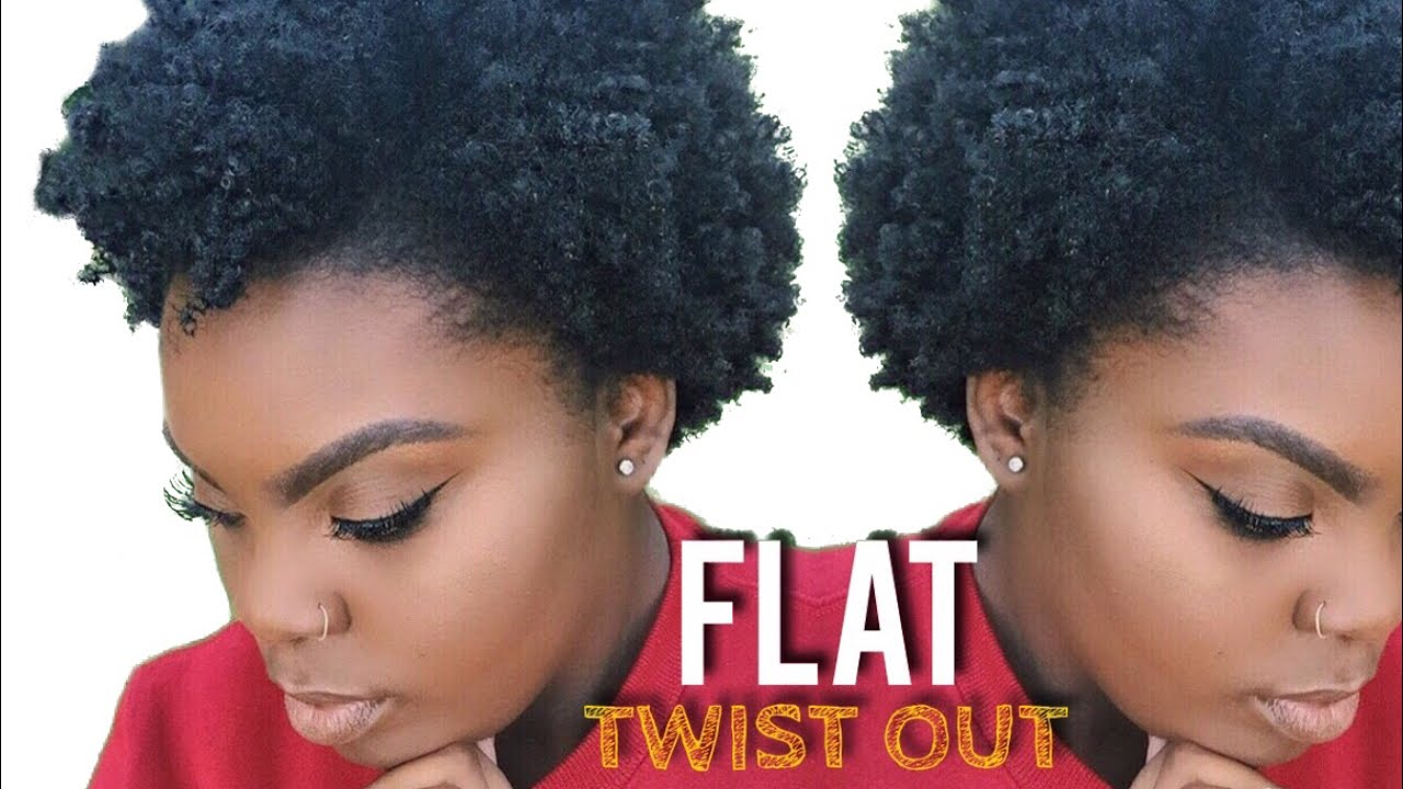 Flat Twist Out On Short 4c Natural Hair Joynavon Youtube